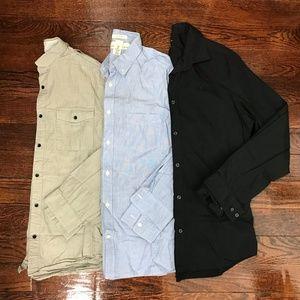 H&M Button Down Shirts Long Sleeve Medium